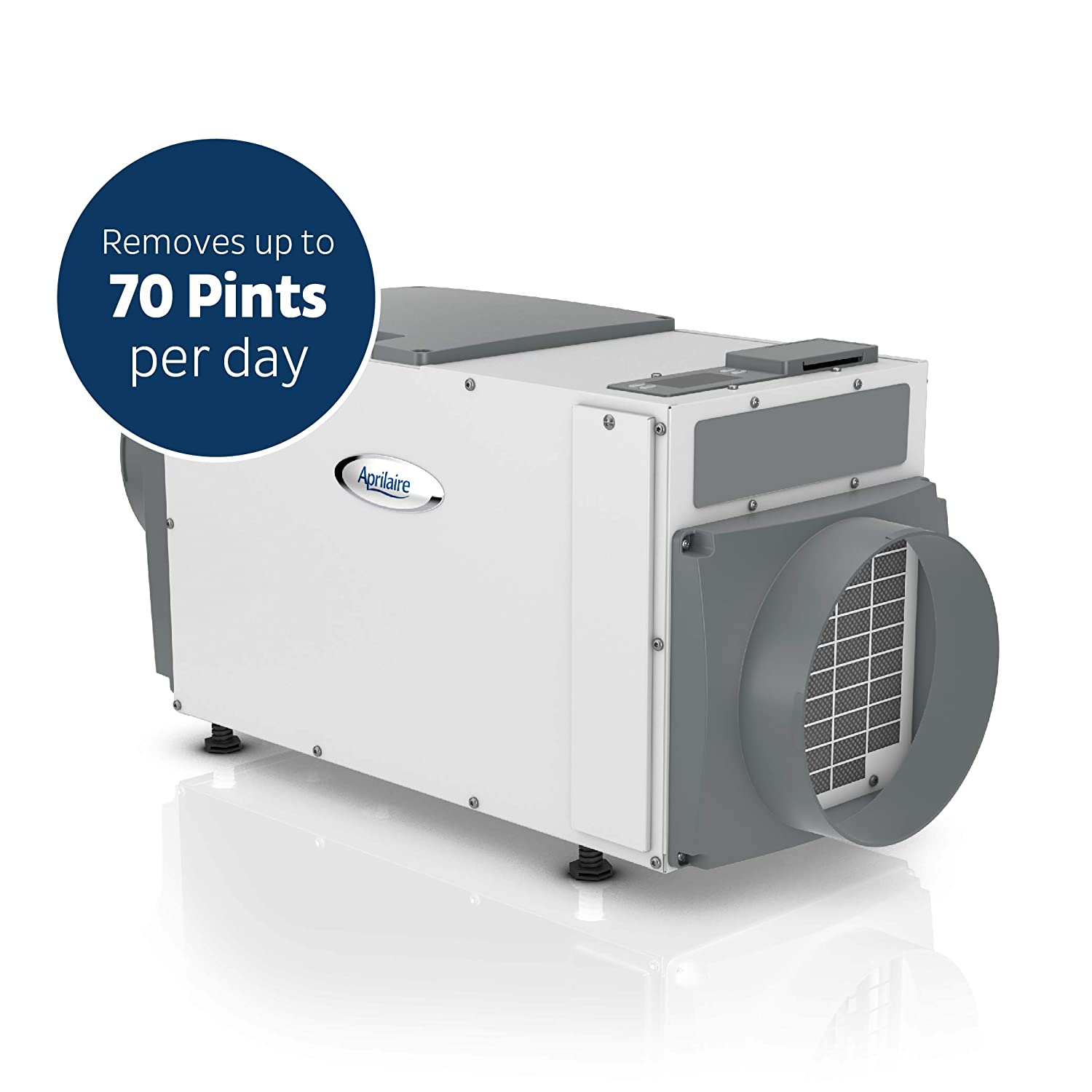 Aprilaire 1830 Pro Basement Dehumidifier, 70 Pint Commercial Dehumidifier for Basements up to 3,800 sq. ft.