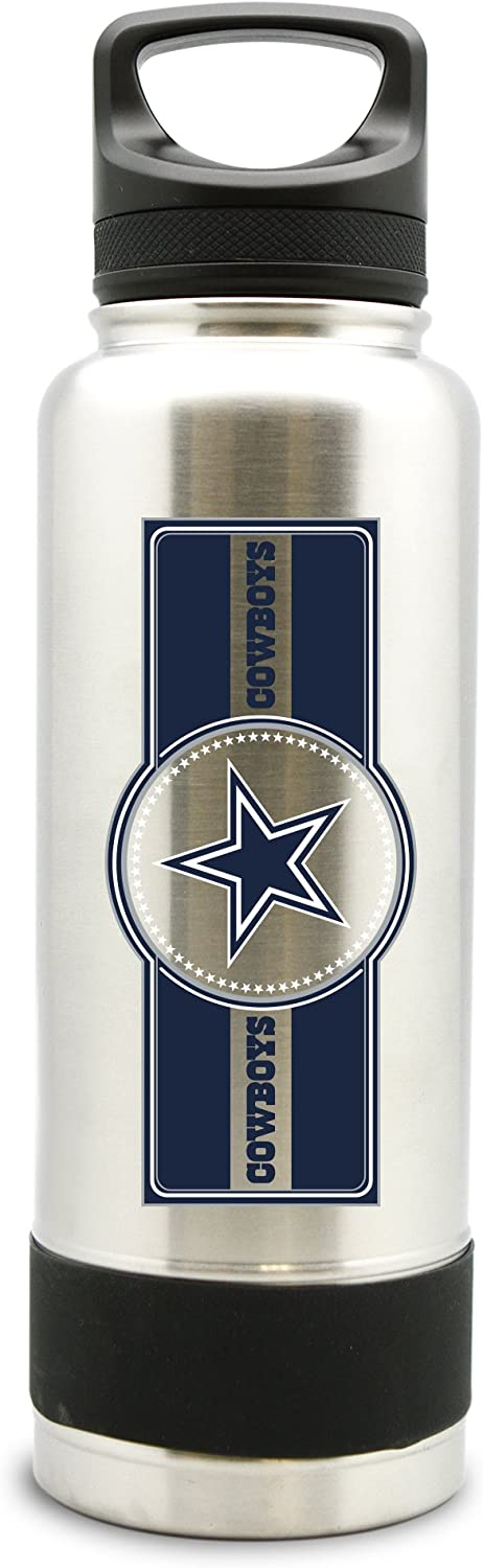 NFL Dallas Cowboys 38oz Double Wall Stainless Steel Large Water Bottle