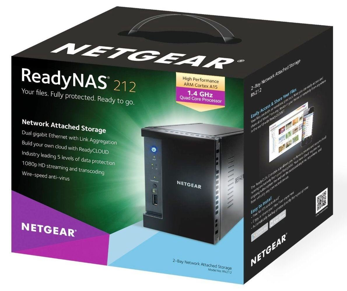 Netgear ReadyNAS 212 RN21200-100INS 2-Bay Diskless Network