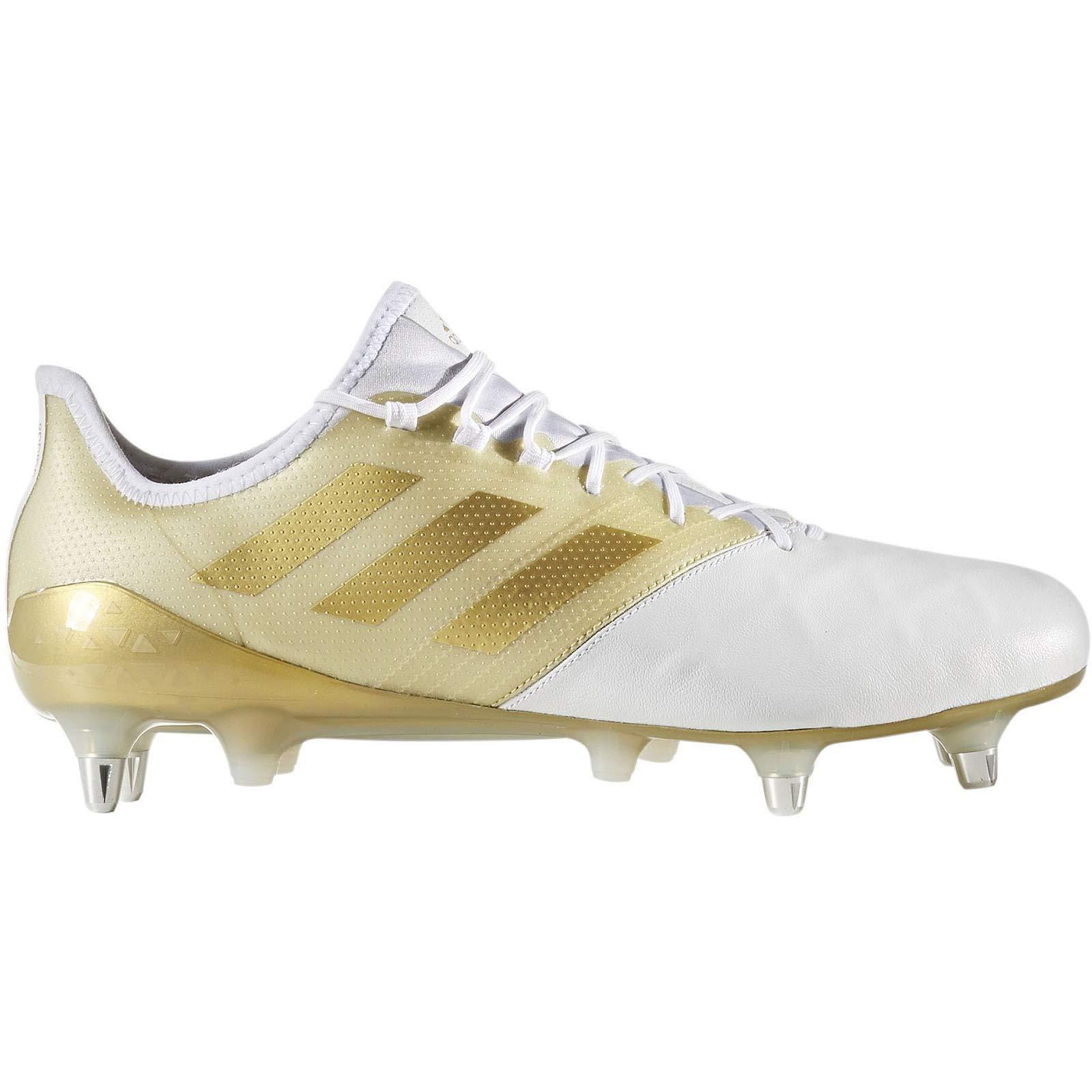 9d7354b1ccc Galleon - Adidas Kakari Light SG Rugby Boots - White Gold - UK 13