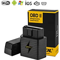 OBD2 Diagnosegerät WIFI ELM327 Adapter WLAN, AUTOOL OBD2 Diagnose Scanner WIFI für iOS iPhone Android Windows KFZ/PKW/AUTO,Code Leser Fehlerspeicher Lesen und Löschen