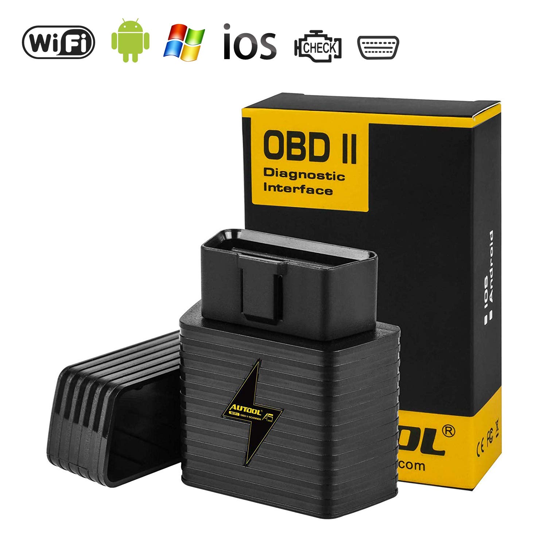 Autool OBD2 OBDII esc/áner WiFi Adaptador ELM327 OBD2 Lector para Android iOS Lector de c/ódigo de Motor