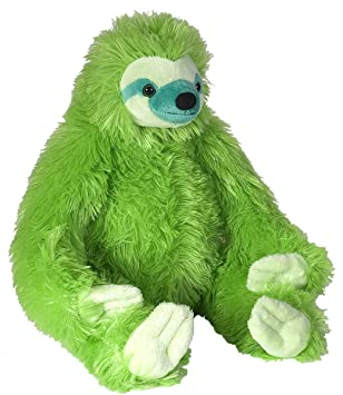 Amazon Com Wild Republic Sloth Plush Green Toys Games