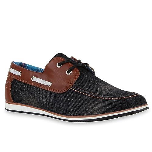 Stiefelparadies - Mocasines Hombre , color Negro, talla 45 UE: Amazon.es: Zapatos y complementos