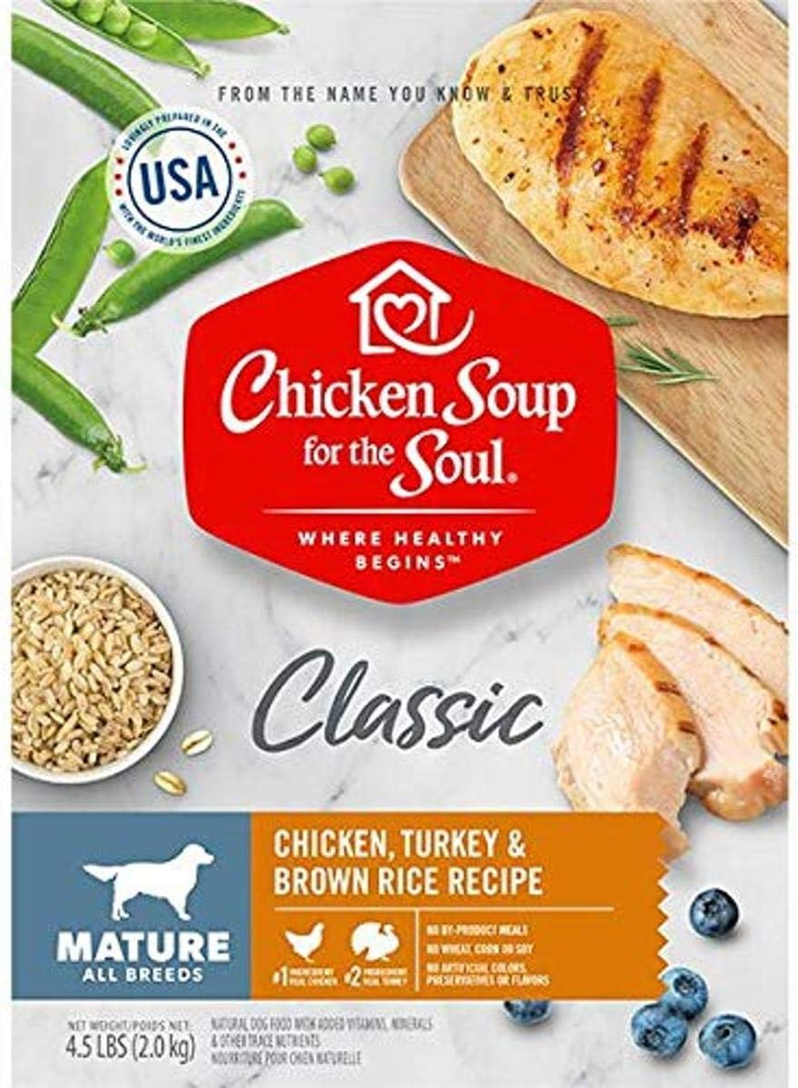 Chicken Soup 418425 No.4.5 Mature Care Chicken Turkey & Brown Rice Recipe Dog Food