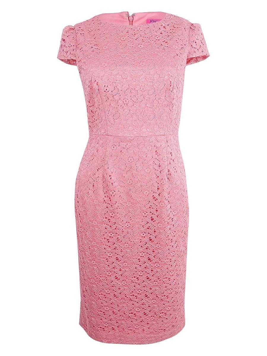 Coral Betsey Johnson Womens Lace Sheath Dress Dress