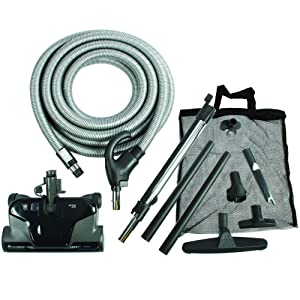 Cen-Tec Systems 94071 Premium Total Control Central Vacuum Electric Powerhead Package with 30 Foot Hose Black