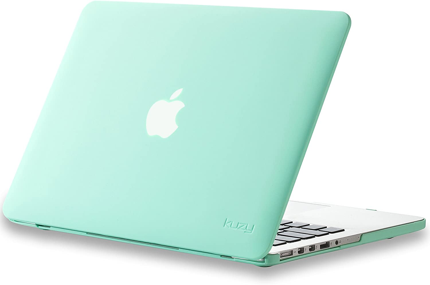 Kuzy - Older Version MacBook Pro 13.3 inch Case (Release 2015-2012) Rubberized Hard Cover for Model A1502 A1425 with Retina Display Shell Plastic - Mint Green