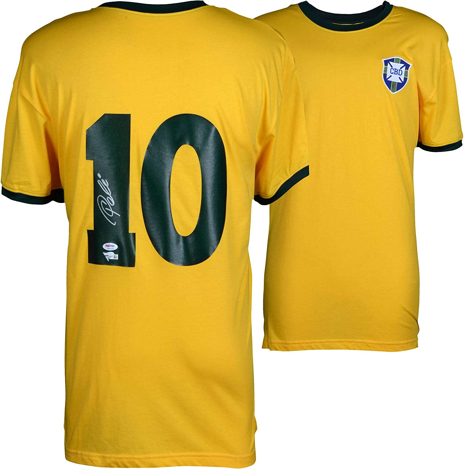 1e77d6897 Pele Brazil Autographed Yellow Jersey - Fanatics Authentic Certified -  Autographed Soccer Jerseys at Amazon s Sports Collectibles Store