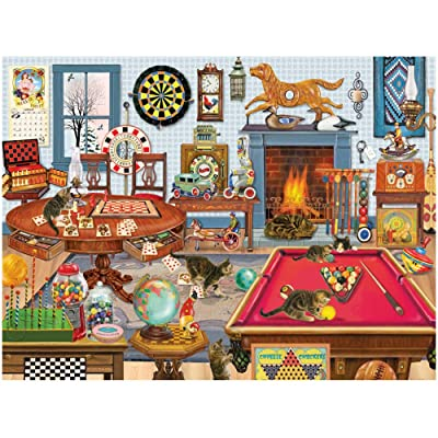 1000 Piece Jigsaw Puzzles for Adults & Kids - Play Room Leisure Time, Large Puzzle for Advanced Players Pressure Gift Family Fun: Toys & Games
