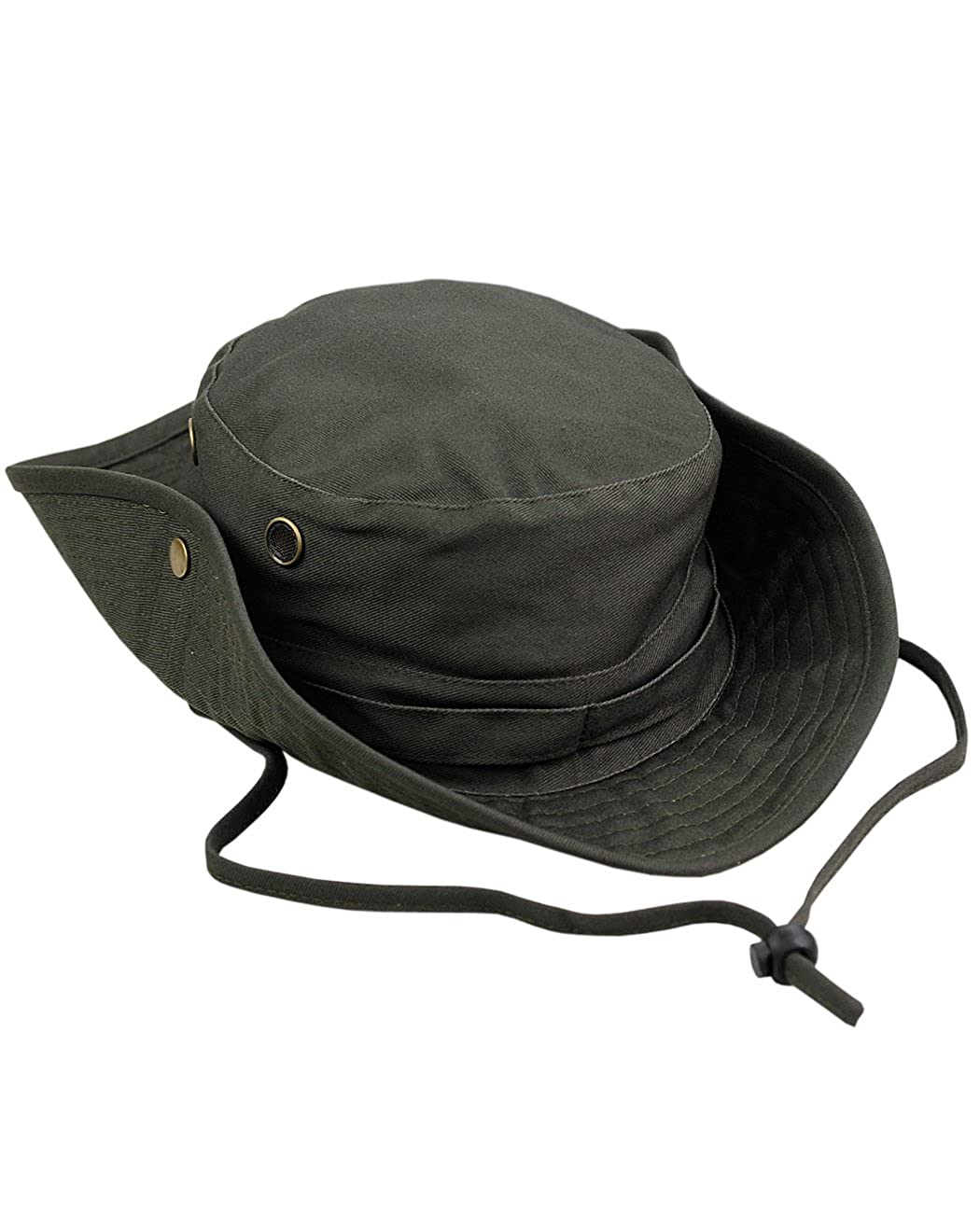 b6a31aba115 NYFASHION101 Men s Crushable Snap Brim Cotton Outdoor Bucket Sun Hat Black  OD1890-BK larger image