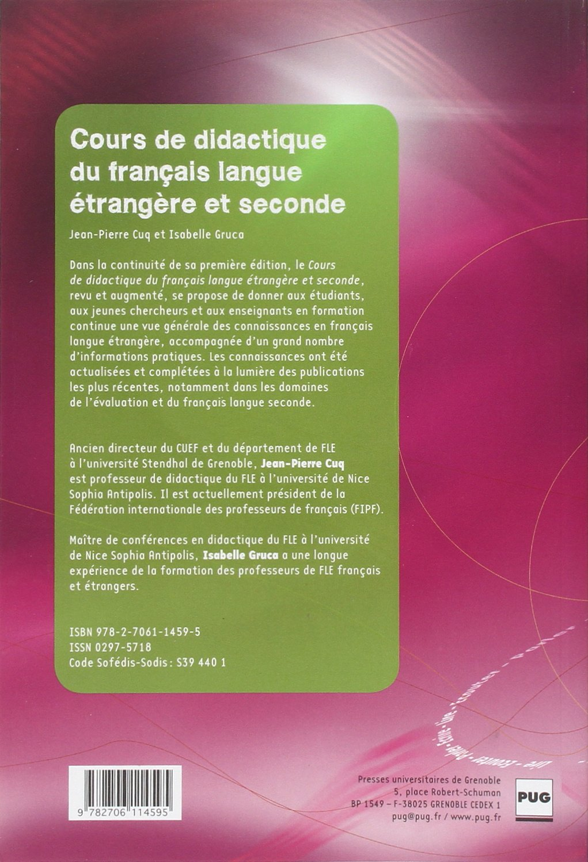 Amazon In Buy Cours De Didactique Du Francais Langue
