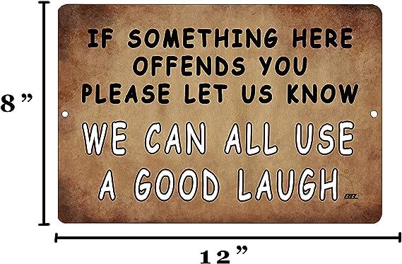 Funny Sarcastic Metal Tin Sign Wall Decor Man Cave Bar A Good Laugh