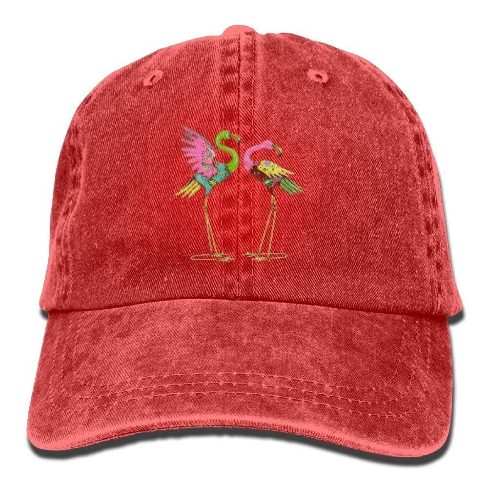 Hoklcvd Casquette de Baseball r/églable de Flamants Roses de Mode Chapeau de Papa de Maman unisexe21