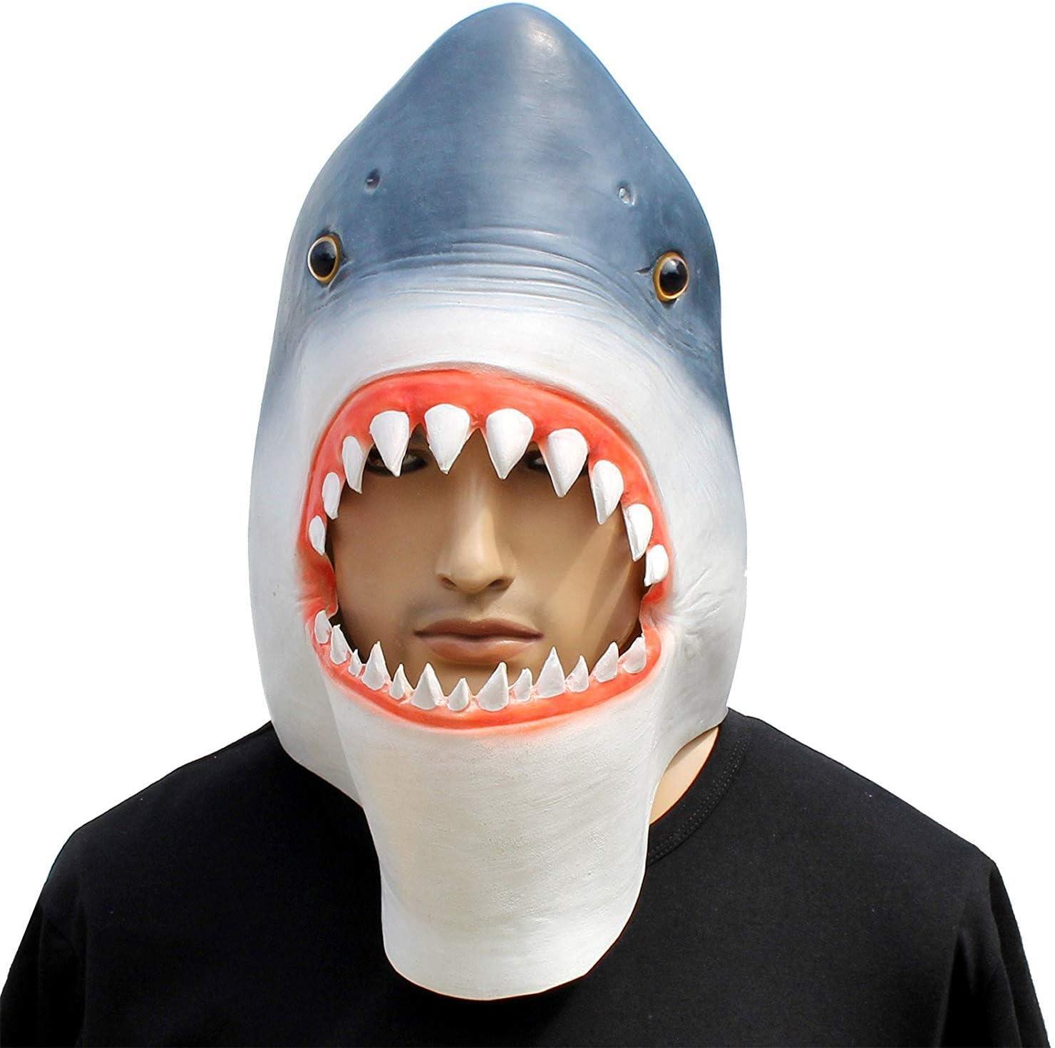 ADULT HALLOWEEN ANIMALS /& NATURE SHARK MASK FANCY DRESS ACCESSORY