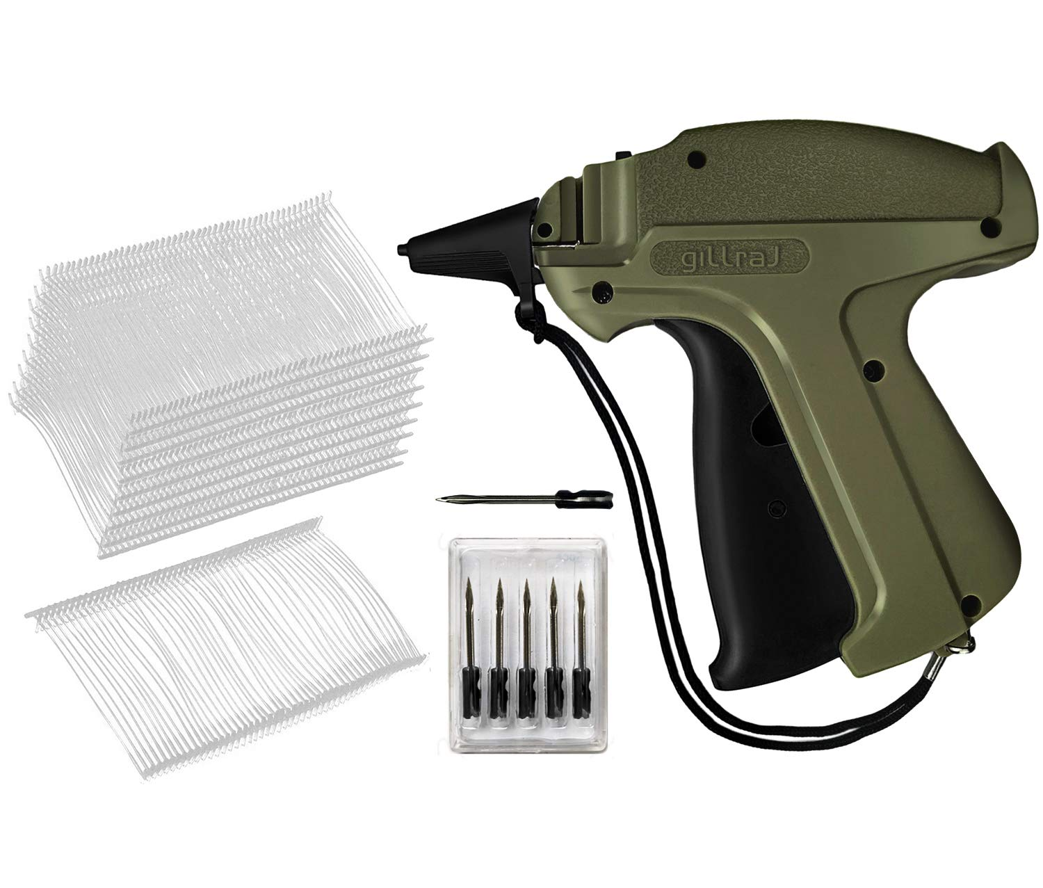 GILLRAJ MILAN Clothes Tagging Gun with 5000 Standard Tags Attachments and 6 Needles Clothing Retail Price Tag Gun Kit for Boutique Store Warehouse ...