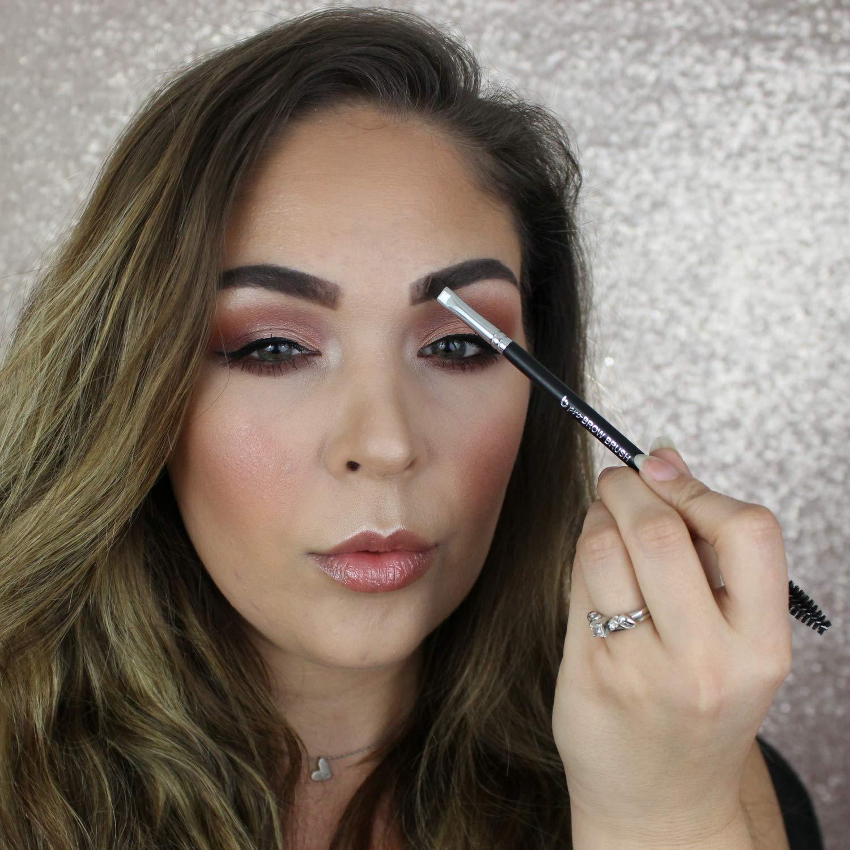 amazon com duo angled eyebrow brush spoolie eye brow makeup comb