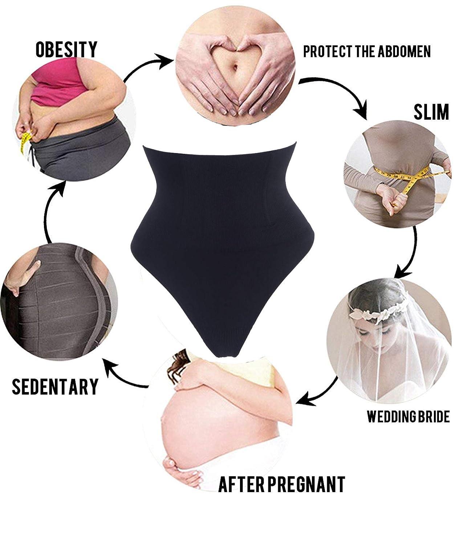 Lelinta Tummy Control Panties Women Butt Lifter Waist Trainer Body Shaper Thong Shapewear Brief
