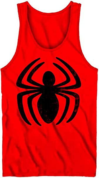 0eaf652974602 The Amazing Spider-Man Second Spin Men s Red Tank Top Shirt