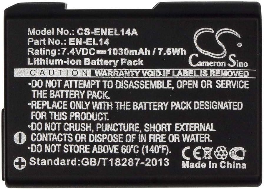 1030mAh//7.62Wh 7.4V Camera Battery Compatible With NIKON Coolpix P7000 Coolpix P7100 Coolpix P7700 Coolpix P7800 D3100 D3100 DSLR D3200 D3200 DSLR D3300 D5100 D5100 DSLR D5200 D5300 D5500 DSLR D3100