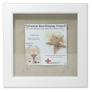 lawrence frames shadow box frame with linen inner display board 8 by 8 inch