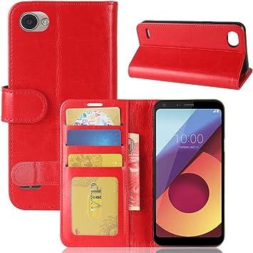 Funda® Capirotazo Billetera Funda para LG Q6 Plus/LG Q6 (Rojo ...