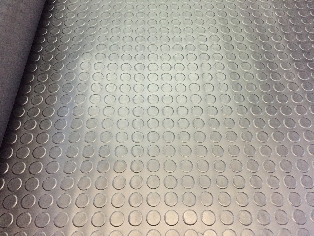2m (meters) Black Anti Slip Shed Van Garage Workshop Rubber Flooring Matting Roll 1.5m width x 3mm thick ( Coin Style) SHIELD AUTOCARE