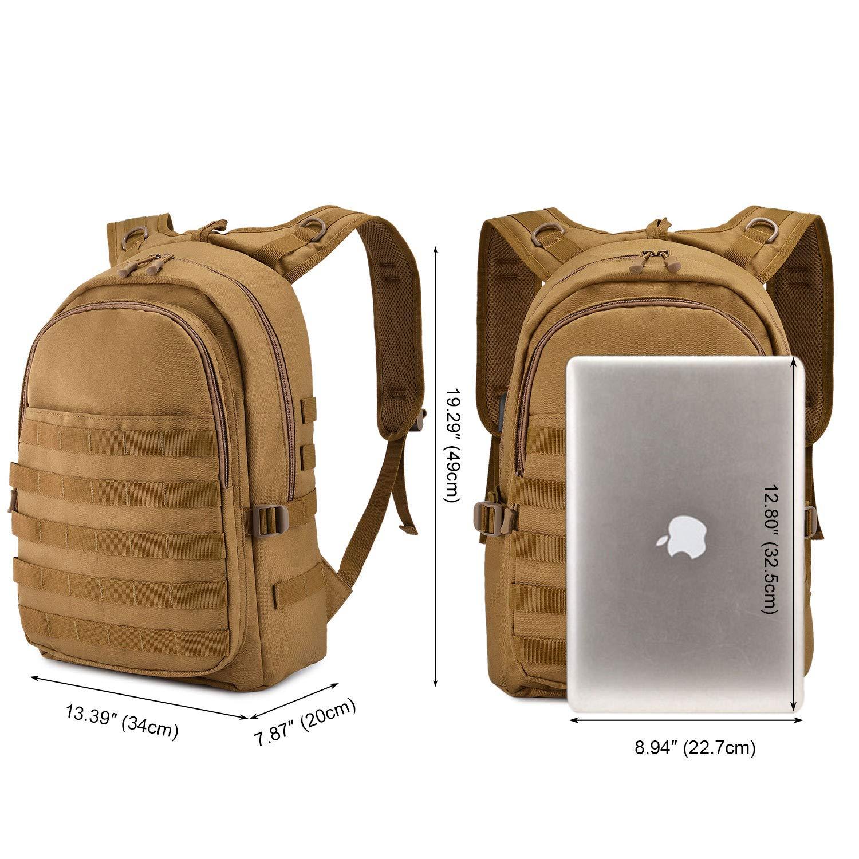 Borsa Militare per Laptop BAIGIO Zaino Tattico Zaino Scuola College per Trekking Campeggio Escursionismo