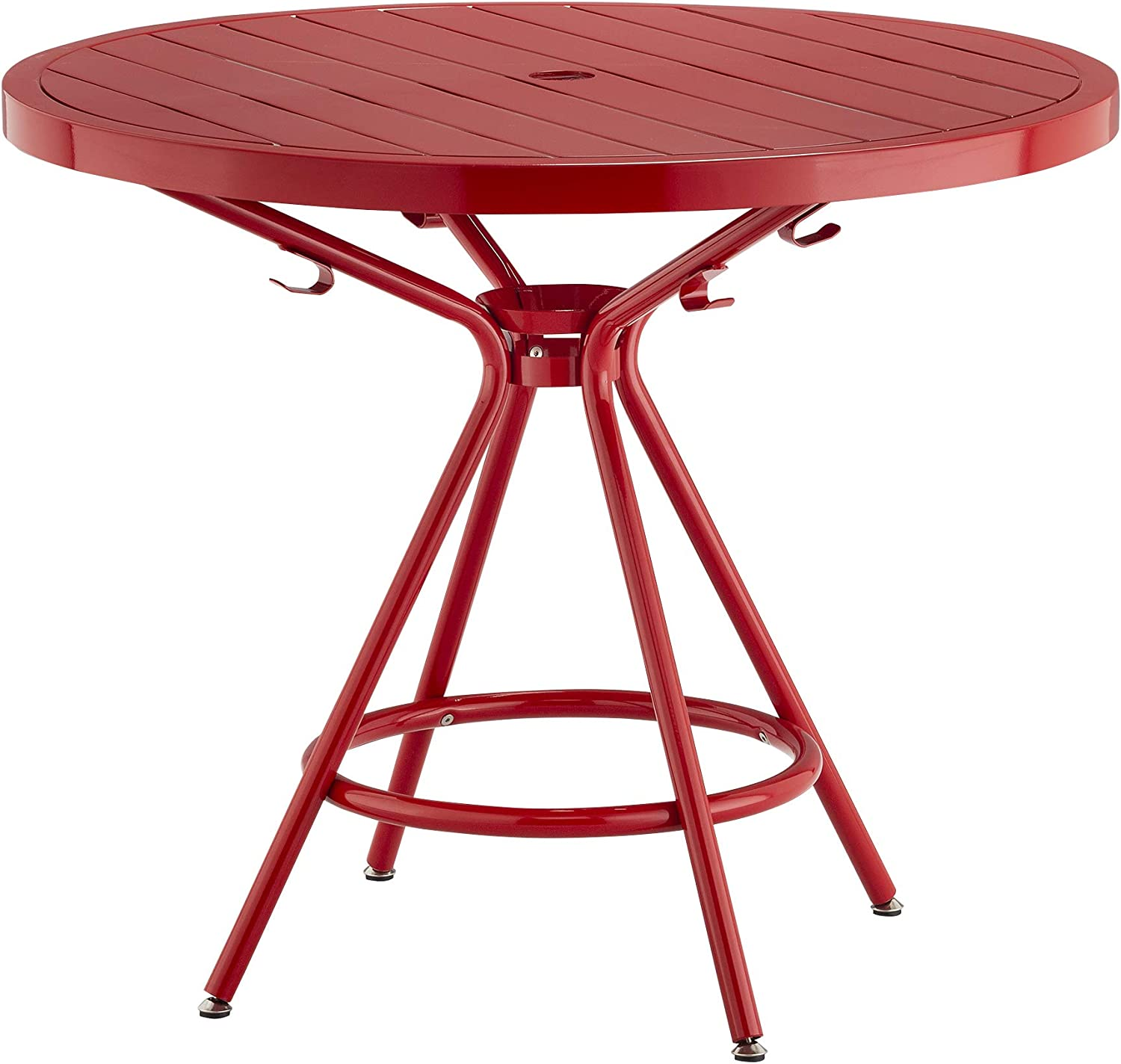 "Safco Products CoGo Steel Indoor/Outdoor Table, 36"" Round, Red"