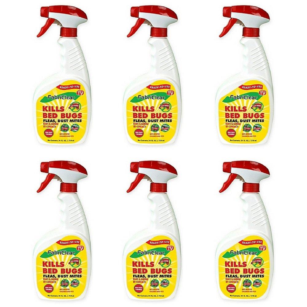 Fabriclear Bed Bug Spray, 24 Ounce Spray (6 pack) by Fabriclear