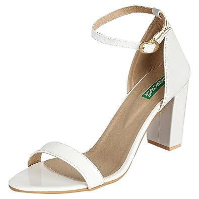 c7dfd888d AUTHENTIC VOGUE Women's Ankle Strap Sandals-4 Inch High Heel: Buy ...