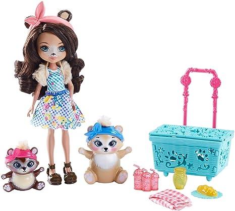 Enchantimals Vamos de picnic con Paws, muñeca con accesorios (Mattel FCC64)