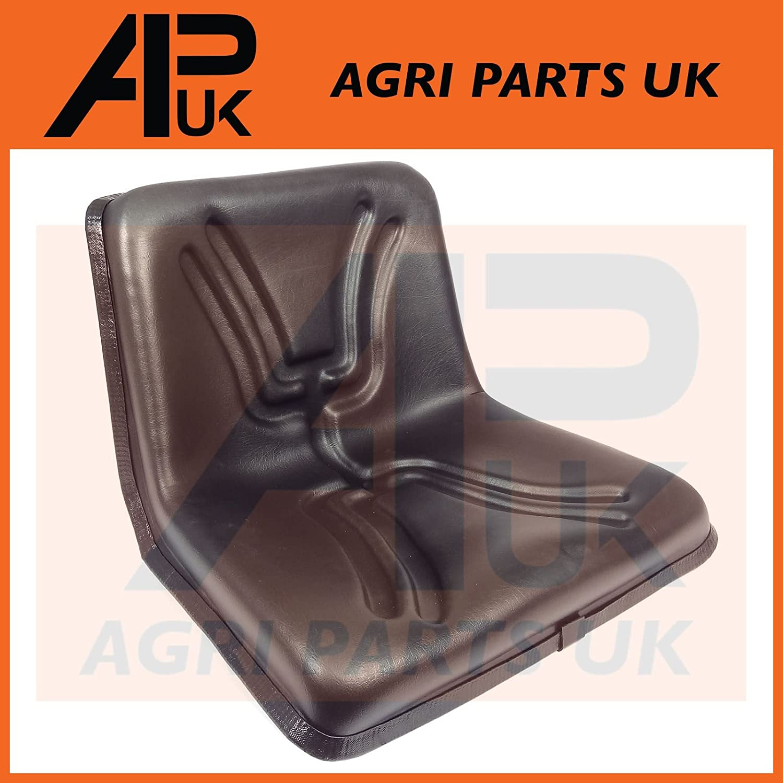 APUK NEW BLACK UNIVERSAL SEAT PAN DUMPER MOWER FORKLIFT TRACTOR RIDE ON COMPACT HIGH BACK Agri Parts UK Ltd