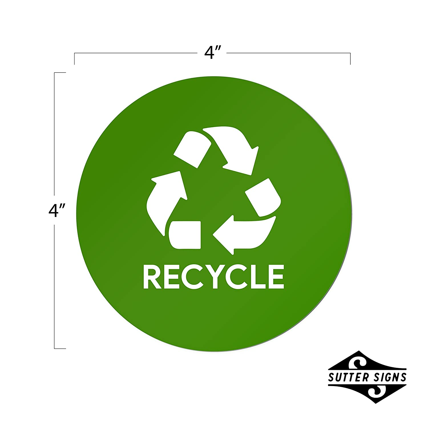 Events 2 Stickers of Each Businesses Sutter Signs Recycle /& Trash Garbage Sticker Set for Offices
