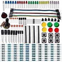 DSD TECH Composant électronique Kit de démarrage de base avec condensateur à résistance Condensateur diode LED et câble Dupont pour Arduino UNO R3 Mega 2560 Nano Framboise Pi
