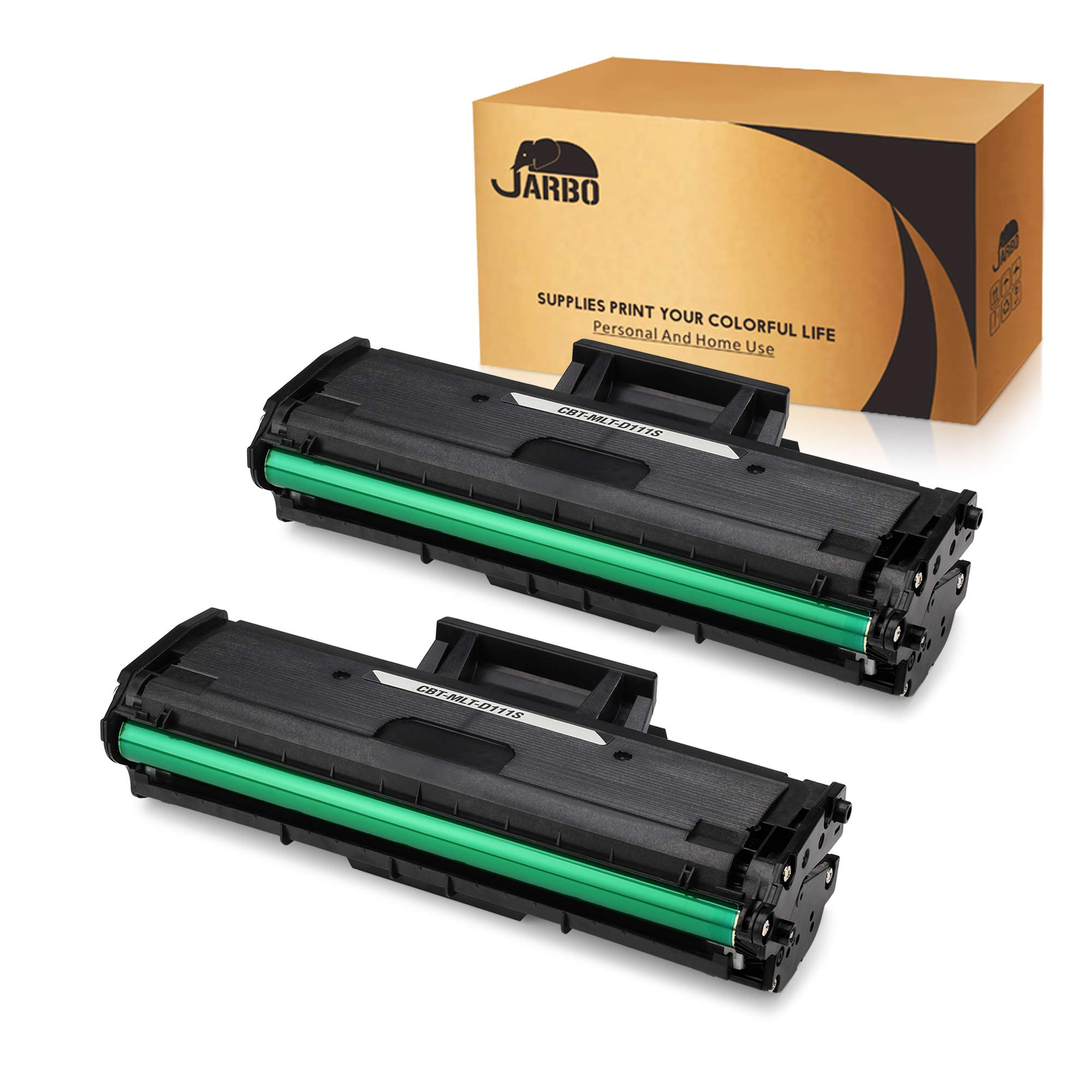 JARBO Compatible Toner Cartridges Replacement for Samsung MLT-D111S MLTD111S, High Yield, 2 Black, Compatible with Samsung Xpress M2020W, Samsung Xpress M2070FW, Samsung Xpress M2070W Laser Printer