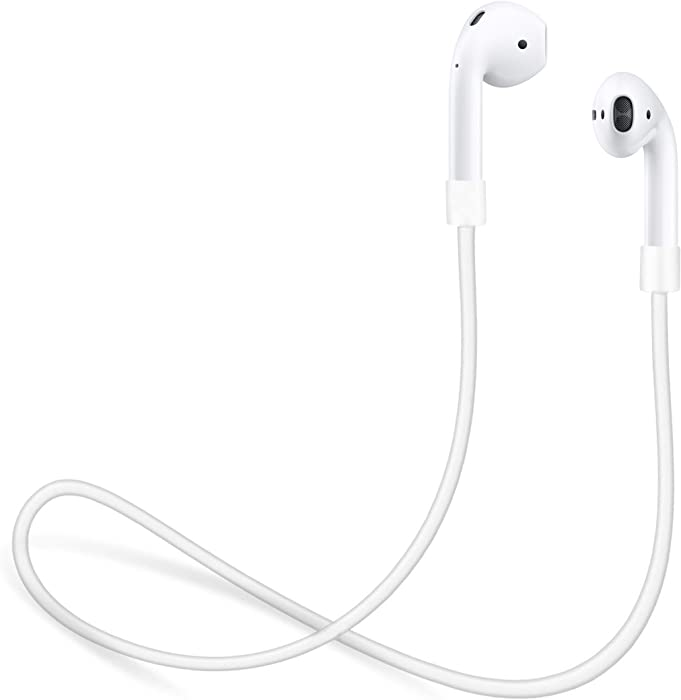 innoGadgets Strap for Apple AirPods | Smart Accessory – Never Lose Your AirPod | Connector Wire Cable Cord for AirPods | White - 22 inches