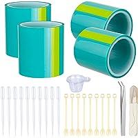 Meetory 4 STKS UV Naadloze Sticky Paper Tape Traceless Tape en 32 Stuks Maken Gereedschap voor Epoxy UV Hars Sieraden…