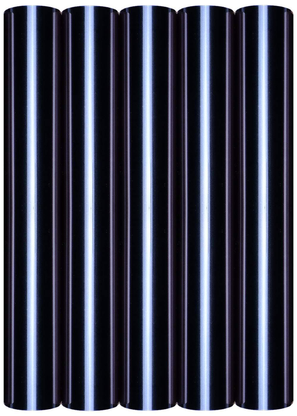 5 láminas de transferencia A4 para planchar sobre textiles, perfectas para plotter, P.S. Film:5er Set Black: Amazon.es: Oficina y papelería