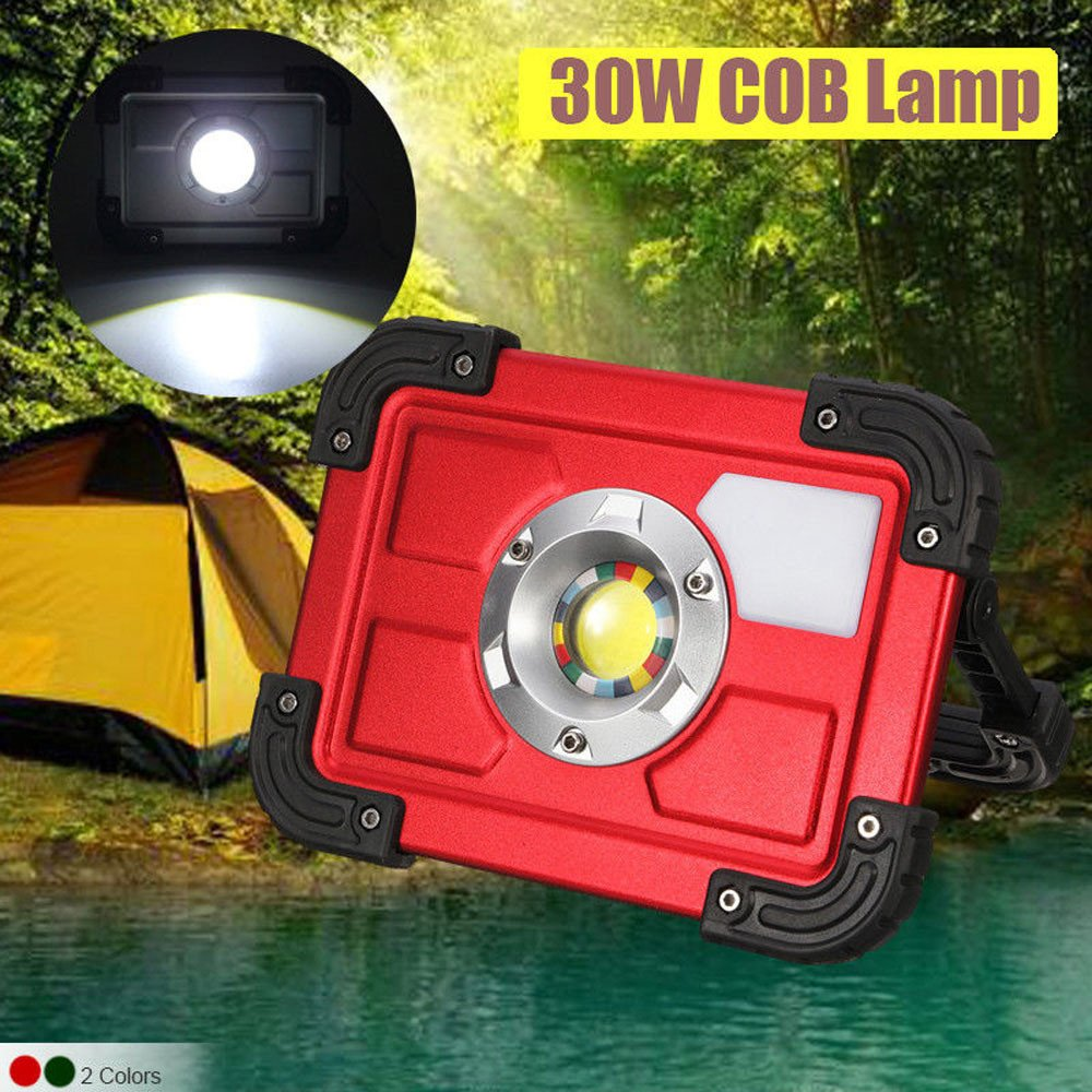 30W COB LED Rechargeable Flood Light Spot Work Camping Fishing Outdoor Lawn Lamp by Dressffe by Dressffe (Image #6)