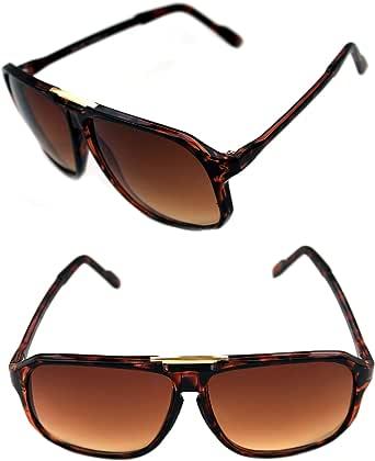 Amazon.com: Men's Hip Hop 80's Gazelle Vintage Sunglasses