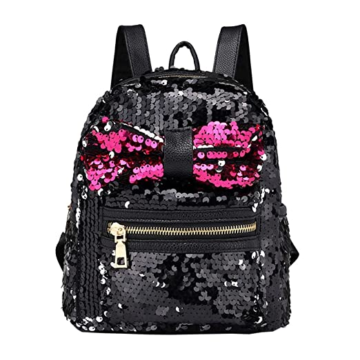 Amazon.com  Fashion Women Girl Bling Sequins Mini Backpack Crossbody ... 2e7a642adfd8d