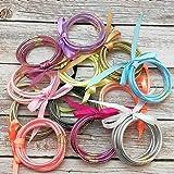 YBMYCM Glitter Jelly Bangles Bracelets Set for