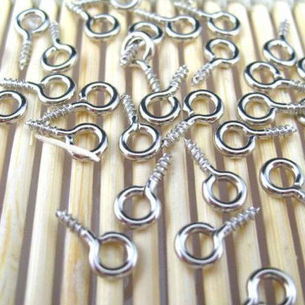 DIAMOEN 100pcs Ojo escarpias roscadas para la joyer/ía de 10 mm Grano de la Resina