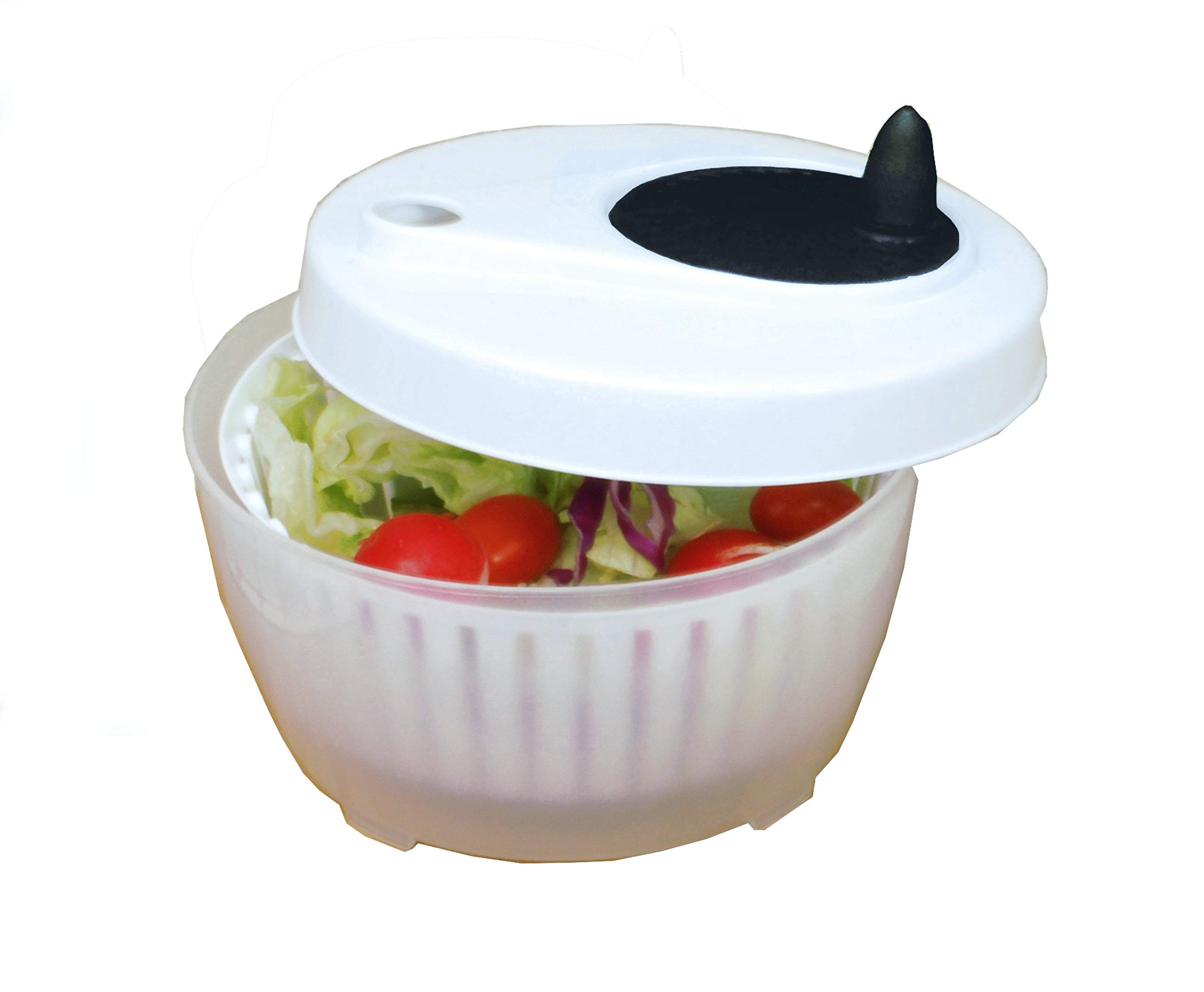 ExcelSteel 602 Functional, Fruits, Vegetables Mini Salad Spinner, 1.4 Qt, White by ExcelSteel