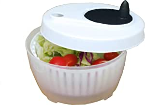 ExcelSteel Functional, Fruits, Vegetables Mini Salad Spinner, 1.4 Qt, White