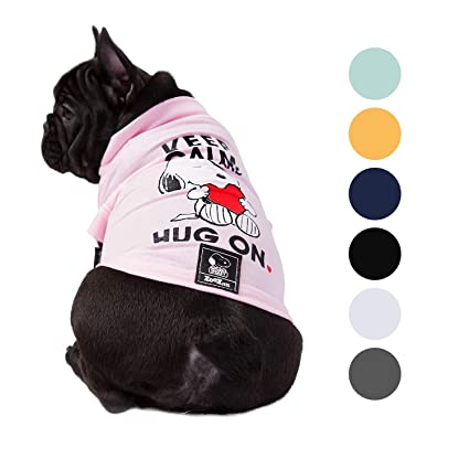 978ac0d72b7c Zoozpets Snoopy Dog Shirt Clothes | Official Peanuts Licensee Dog Shirts in  7 Different Colors and Styles | Pet Apparel Dog t Shirt for Puppy, Small,  ...