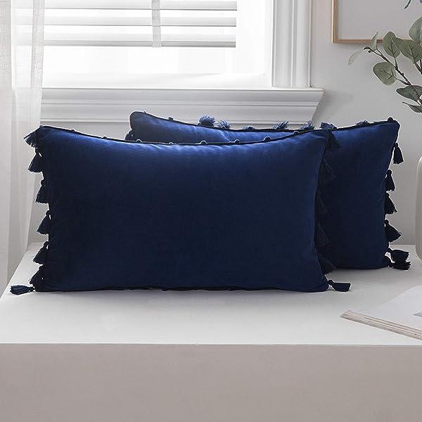Rectangle Color Pillow Cover Cushion Case Toss Pillowcase Hidden Zipper CL