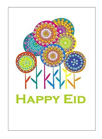 Amazon zaffron shop happy eid flower party greeting cards 10 zaffron shop happy eid flower party greeting cards 10 pack m4hsunfo