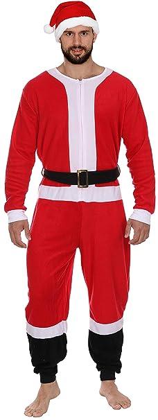 c23546355b Secret Santa Adult Mens Womens Christmas Holiday Elf Onesie Pajama ...